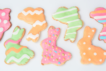gingerbread cookies: Easter bunny shaped gingerbread cookies Stock Photo