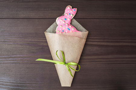 multy: Easter bunny shaped gingerbread cookie