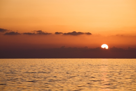 Sunset over Mediterranean Sea, Turkey photo