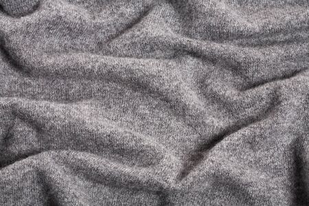 Gray Luxury Fluffy Cashmere Background Stock Photo