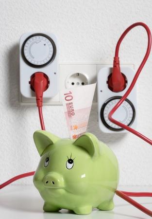 Timer switch saving energy and money photo