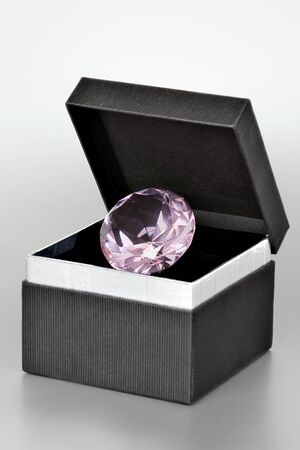 Diamond in a gift box Stock Photo - 10591463