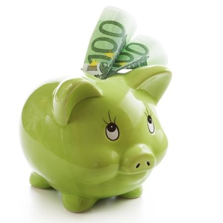 緑の貯金で 200 ユーロ 写真素材