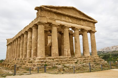 Concordia Temple, Valley of temples, Agrigento, Sicily photo