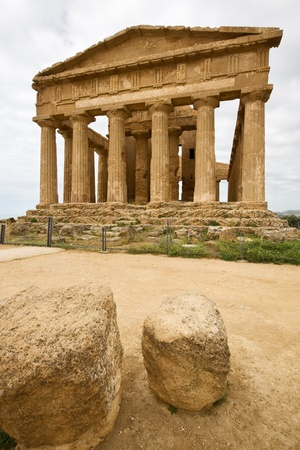 valley of the temples: Concordia Temple, Valley of temples, Agrigento, Sicily Stock Photo
