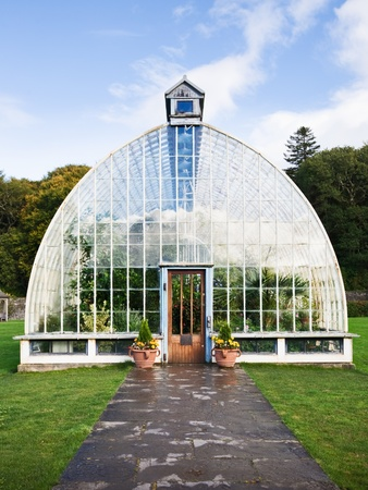 Traditional greenhouse in Killarney, Ireland photo