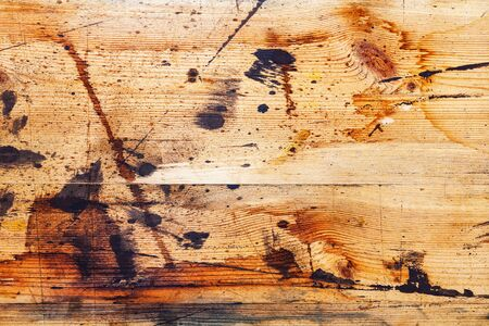 splatter paint: Background texture of old wooden boards with paint stains