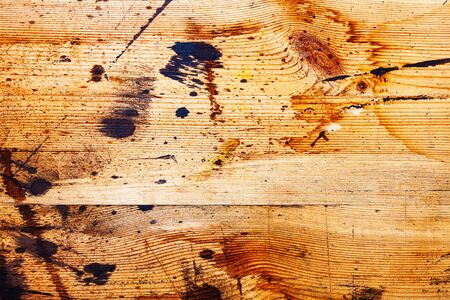 old wallpaper: Background texture of old wooden boards with paint stains