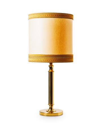 Oude klassieke vloer of tafel lamp op een witte achtergrond. Retro stijl. Object met het knippen van weg