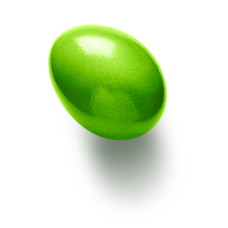 eggs: Green painted easter egg isolated on white background. Object with clipping path