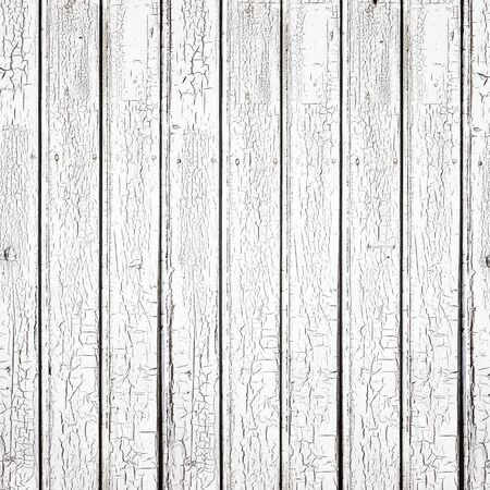wood floor: White plank background. Texture of painted old wooden boards Stock Photo