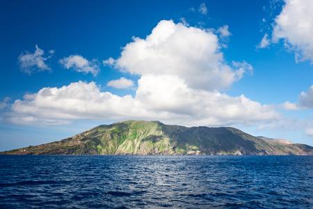 Aeolian islands. Lipari, Vulcano island, Tyrrhenian sea, Sicily, Italy. Beautiful landscape and travel destination