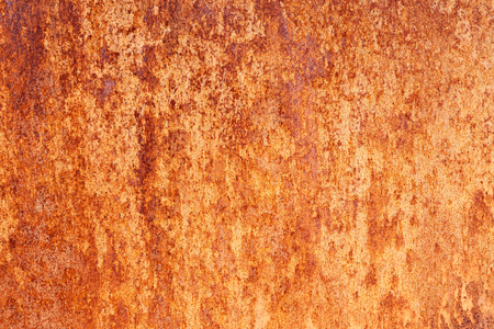 Background texture of old rusty metal surface. Trendy material for facades