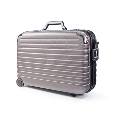 Suitcase isolated on white background clipping path included. Business travel and vacation concept