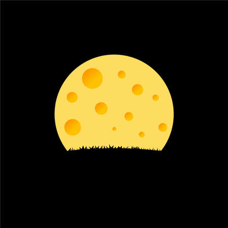 Cheese Moon Logo Inspirations Template