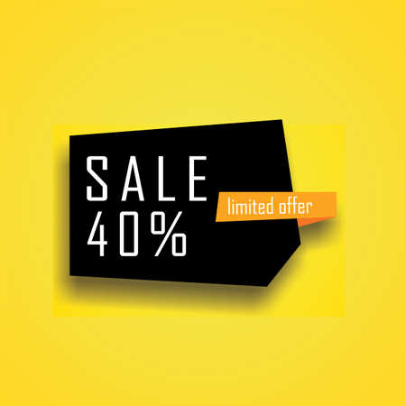 Illustration Vector Banner of Sale 40%. Perfect to use for Sales Promotion Иллюстрация