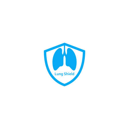 Illustration Vector Graphic of Lung Shield. Perfect to use for Companies in the Health Sector