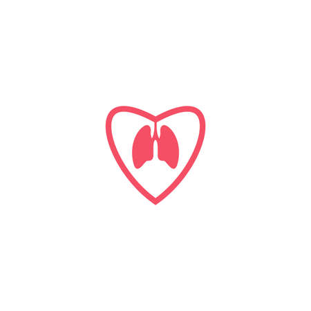 Illustration Vector Graphic of Love Your Lung. Perfect to use for Companies in the Health Sector