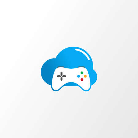 Illustration Vector Graphic of Cloud Joystick. Perfect to use for Gaming or Electronic Sport Company