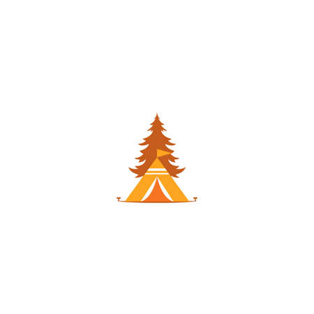 Illustration Vector Graphic of Camp  . Perfect to use for Recreation or Outdoor Camping Company