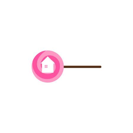Illustration Vector Graphic of Lollipop House 向量圖像