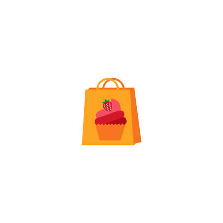 Illustration Vector Graphic of Cake Bag. Perfect to use for Bakery Store Vettoriali