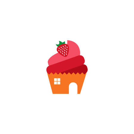 Illustration Vector Graphic of Cake House. Perfect to use for Bakery Store 向量圖像
