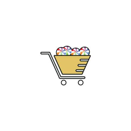Illustration Vector Graphic of Lollipop Store Vettoriali