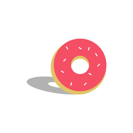 Illustration Vector Graphic of Pink Donuts Vettoriali