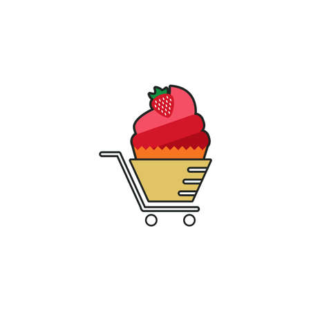 Illustration Vector Graphic of Cake Store. Perfect to use for Bakery Store