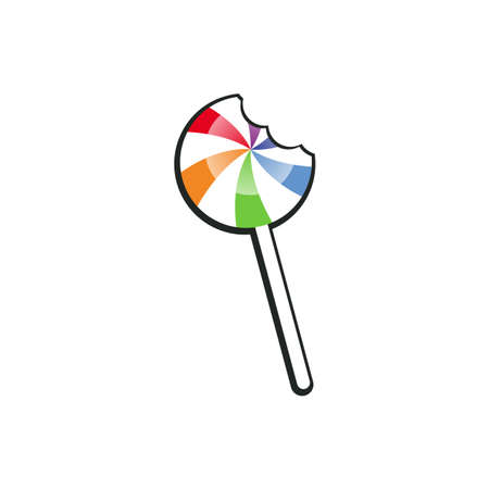 Illustration Vector Graphic of Lollipop with Bite Marks