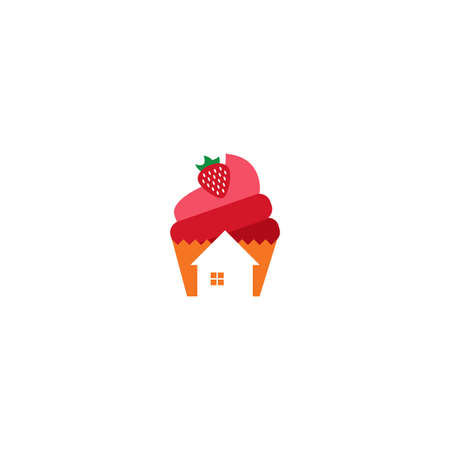 Illustration Vector Graphic of Cake House. Perfect to use for Bakery Store Vettoriali