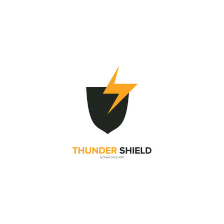 Illustration Vector Graphic of Thunder Shield. Perfect to use for Technology Company Ilustração