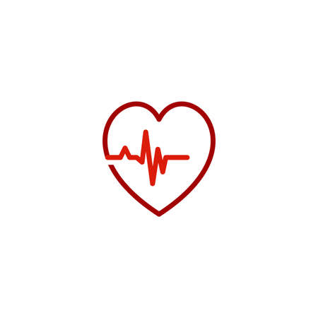 Illustration Vector Graphic of Love Pulse Logo. Perfect to use for Medical Logo
