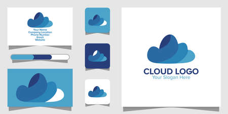 Illustration Vector Graphic of Cloud Logo. Perfect to use for Technology Company