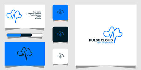 Illustration Vector Graphic of Pulse Cloud Logo. Perfect to use for Technology Company
