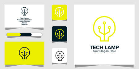 Illustration Vector Graphic of Tech Lamp Logo. Perfect to use for Technology Company
