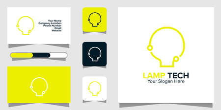 Illustration Vector Graphic of Lamp Tech Logo. Perfect to use for Technology Company Ilustracja