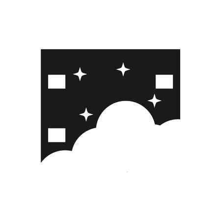 Illustration Vector Graphic of Cloud Night Film. Perfect to use for Cinema logo 向量圖像