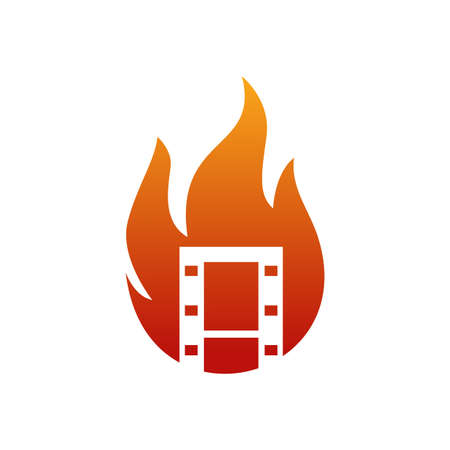 Illustration Vector Graphic of Fire Film. Perfect to use for Cinema logo