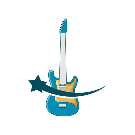 Illustration Vector Graphic of Star Guitar Store. Perfect to use for Music Company