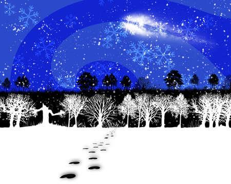 animal tracks: tracce di animali e neve in un paesaggio invernale