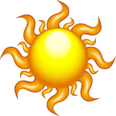 isolated glossy sun vector illustration