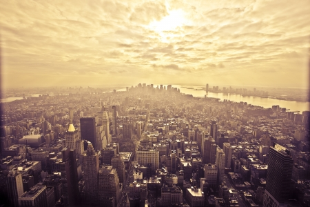 newyork: View from the Empire State Building in New York
