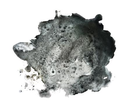 Black spot blotch on white background