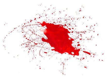 Big red spot isolate on white background. Watercolor Reklamní fotografie