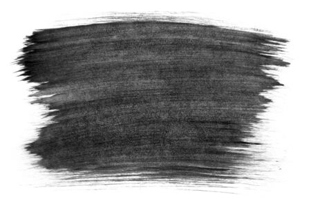 Abstract painted brush texture on paper. On a white background