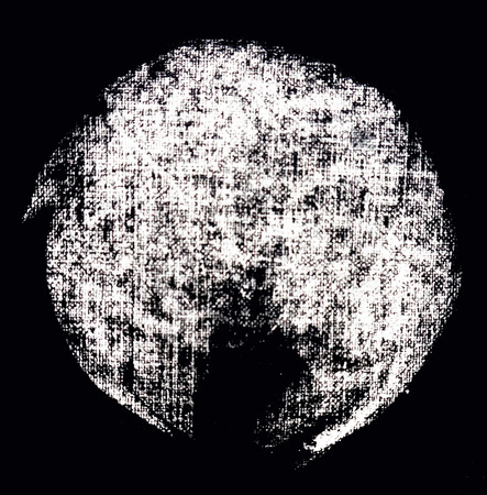 Round texture of white chalk on paper. Background on black. Reklamní fotografie
