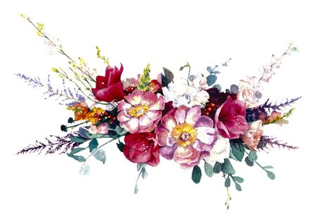 Flower composition on white background. Reklamní fotografie - 75090468