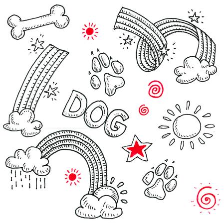 Pattern. Dog theam, walking dog